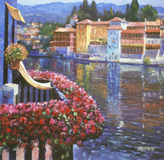 Lakeside Balcony 2011  Embellished Limited Edition Print by Howard Behrens