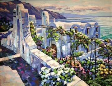 Rhodes, Greece Embellished Limited Edition Print by Howard Behrens