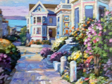 Grove Street Canvas and Las Brisas, Set of 2  1994 Embellished Limited Edition Print - Howard Behrens