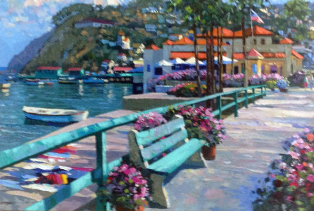 Catalina Promenade 1995 Embellished Limited Edition Print by Howard Behrens