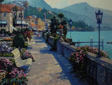 Bellagio Promenade - Italy 1991 Limited Edition Print - Howard Behrens