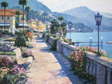 Bellagio Promenade 1991, Italy Limited Edition Print - Howard Behrens