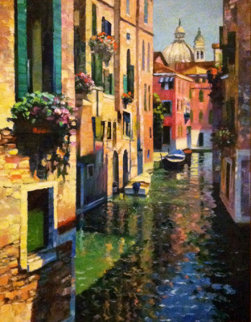 Intrinsically Venice 53x41 (Italy) Original Painting - Howard Behrens