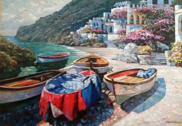 Capri Boats, Italy 2001 Limited Edition Print by Howard Behrens