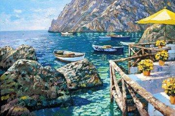 Cafe Capri HC 2003 32x44 Limited Edition Print - Howard Behrens