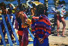Two Girls At the Beach 1982 36x50 Original Painting by Howard Behrens - 0