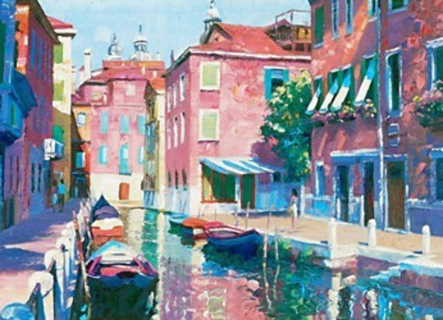 Venetian Canal 1990 Limited Edition Print by Howard Behrens