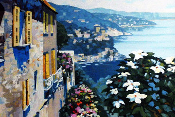 Mediterranean View 1989 Embellished Limited Edition Print - Howard Behrens