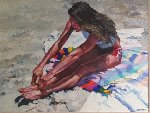 Sit Ups 48x38 (Very Early Work) Original Painting - Howard Behrens