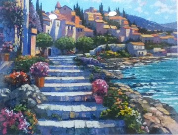Steps of St. Tropez 1996 Limited Edition Print by Howard Behrens