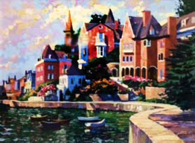 Afternoon At Dinard 1995 Limited Edition Print by Howard Behrens