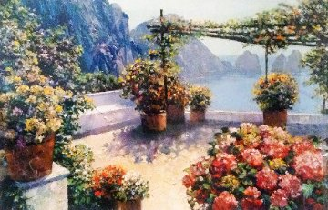 Patio Over Capri  2003  Limited Edition Print - Howard Behrens