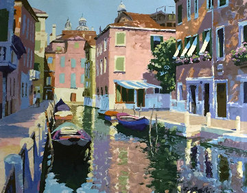 Venetian Canal 1990 Limited Edition Print - Howard Behrens