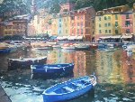 Allure of Portofino  Italy 1988 42x48 Original Painting - Howard Behrens
