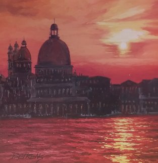 Perfect Sunset At  Grand Canal 2010 38x38 Original Painting by Howard Behrens