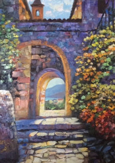 Arches of Eze II 27x36 Original Painting - Howard Behrens