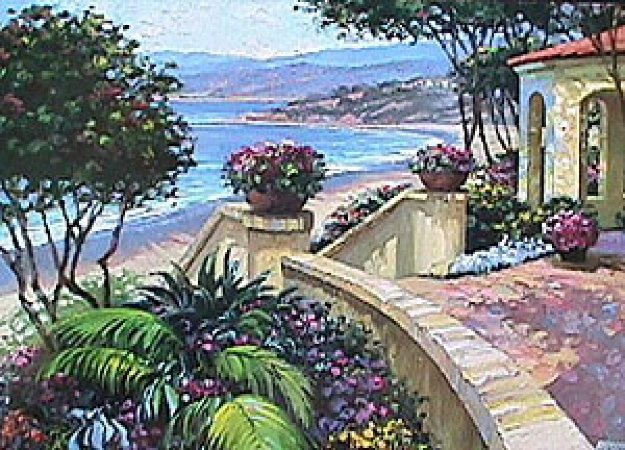 Promenade to the Sea 1995 Limited Edition Print by Howard Behrens