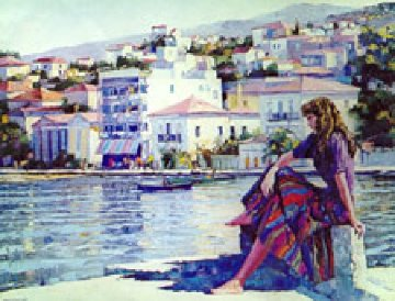 Grecian Harbor Limited Edition Print by Howard Behrens