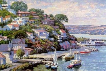 Sausalito Panorama 1993 Limited Edition Print by Howard Behrens