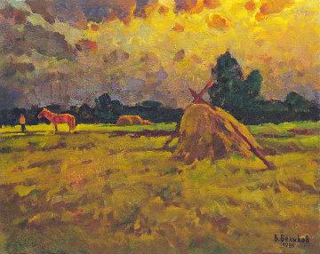 Red Horse 1981 17x22 Original Painting by Vasily Belikov