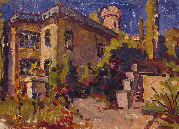 Southern Town 1967 10x14 Original Painting by Vasily Belikov