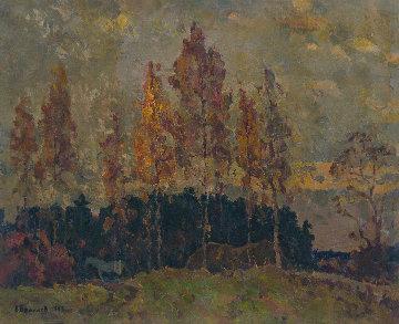 Autumn Birches 1983 25x32 Original Painting - Vasily Belikov