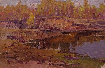 Early Autumn 1968 19x29 Original Painting - Vasily Belikov