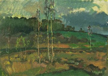 Overcast Autumn Day 1986 13x19 Original Painting by Vasily Belikov