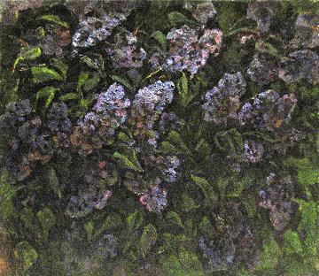 Lilac 1981 27x31 Original Painting - Vasily Belikov