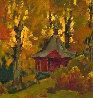 A Chapel 1987 23x25 Original Painting by Vasily Belikov - 1
