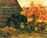 Autumn in the Village 1992 16x20 Original Painting by Vasily Belikov - 0