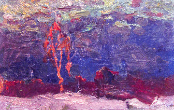 Birch 1982 9x13 Original Painting - Vasily Belikov