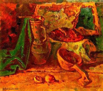 Still Life With a Jug 1979 27x31 Original Painting - Vasily Belikov