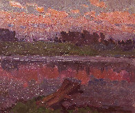 On the River 1982 13x15 Original Painting by Vasily Belikov - 1