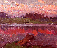On the River 1982 13x15 Original Painting by Vasily Belikov - 0
