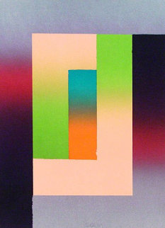Barcelona #5 1988 Limited Edition Print - Larry Bell