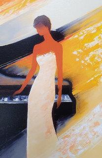 Piano  2012 Embellished  Limited Edition Print - Emile Bellet