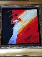 Notes Rouge 2012 Embellished Limited Edition Print by Emile Bellet - 1