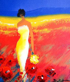 Parmi Les Fleurs 2003 Embellished Limited Edition Print - Emile Bellet