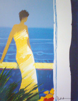 A Docee a la Mer Embellished Limited Edition Print by Emile Bellet