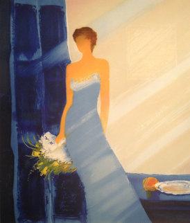 Bleue Embellished Limited Edition Print by Emile Bellet