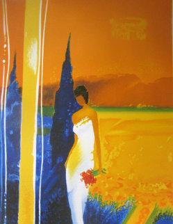 Promenade Estivale 2005 Embellished Limited Edition Print - Emile Bellet