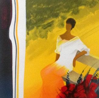 A l'Ombre Du Figuier 2005 Embellished Limited Edition Print by Emile Bellet