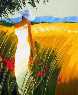 Campagne, France Embellished Limited Edition Print by Emile Bellet
