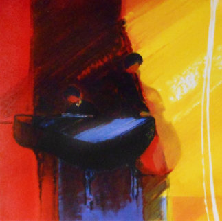 Duo Rouge AP Embellished Limited Edition Print by Emile Bellet