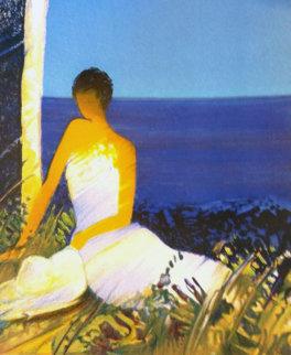 Moment Blue 2006 Embellished Limited Edition Print by Emile Bellet