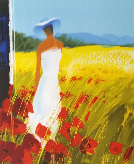In the Poppy Field Embellished Limited Edition Print - Emile Bellet