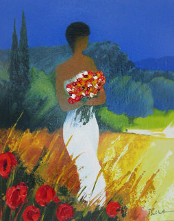 Promenade Provencal Embellished 2003 Limited Edition Print by Emile Bellet