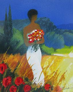 Promenade Provencal Embellished 2003 Limited Edition Print by Emile Bellet