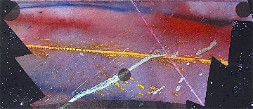 Puerto De Cielo 1991 32x15 Works on Paper (not prints) - Billy Al Bengston
